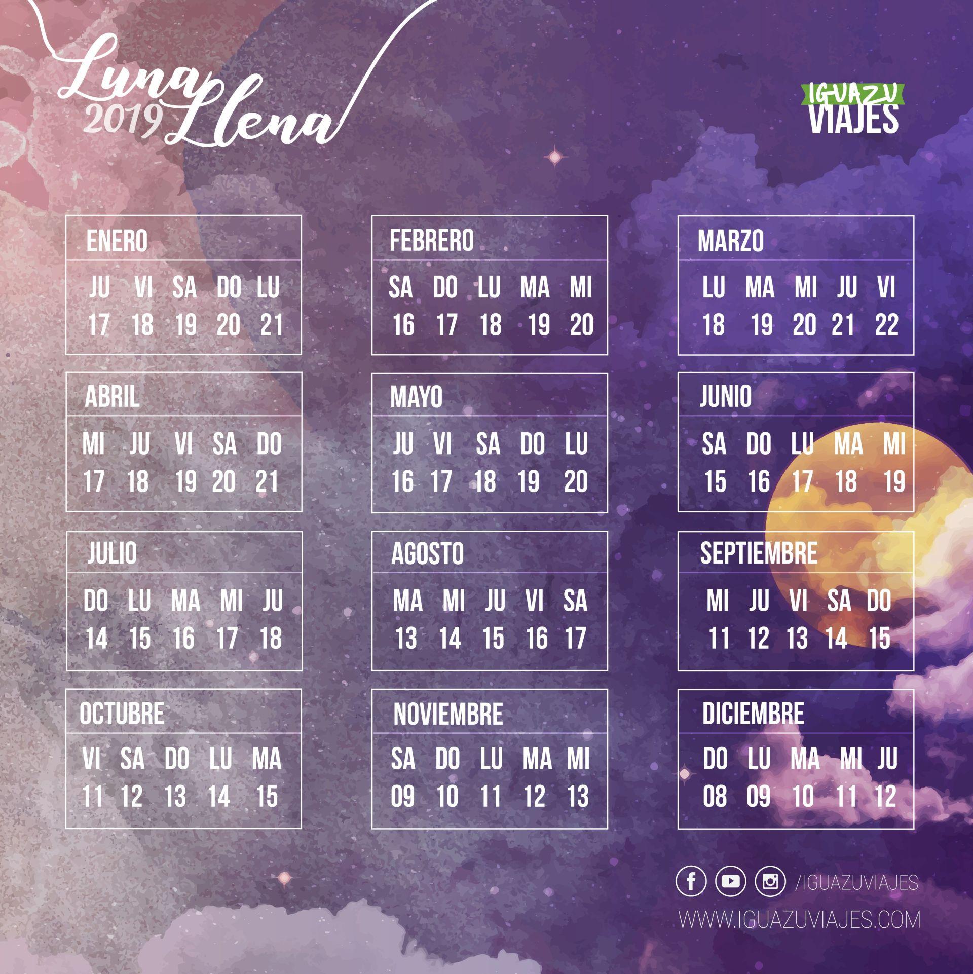 Luna Llena Calendario.Excursion A Cataratas Del Iguazu Con Luna Llena